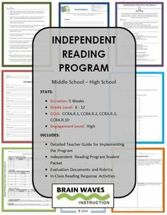 Comprehensive and Engaging Independent Reading Program