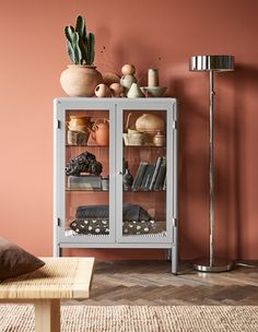 Decor Ikea Want to display your favourite home décor? Try IKEA FABRIKÖR glass-door cabinet in grey! With a glass-door cabinet you can show off as well as protect your glassware or your favourite collection. Fabrikor Ikea, Room Inspiration, Interior Inspiration, Living Room Decor, Bedroom Decor, Living Room Colors, Glass Cabinet Doors, Glass Shelves, Home Decor Ideas