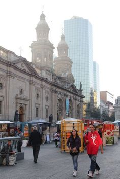 Santiago's Main Square and Catehdral In Chile. #travel #travelexpert #travelstore #Chile #traveljournal