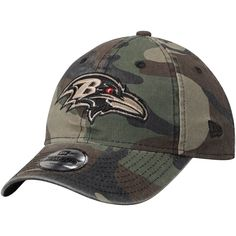 Youth Baltimore Ravens New Era Woodland Camo Core Classic 9TWENTY Adjustable  Hat 923390cd9