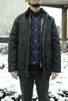 『Barbour』雪の降る日はBedaleを重ね着して。 | DEELIGHT CALTRAIN NEW ARRIVAL
