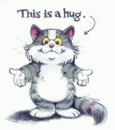 Resultado de imagem para hugs and smiles cats