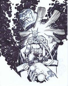Orion and Darkseid by Eric Canete