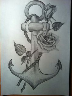 Learn To Draw A Realistic Rose - Drawing On Demand Navy Tattoos, Anchor Tattoos, Foot Tattoos, Flower Tattoos, Body Art Tattoos, Sleeve Tattoos, Tattoos For Guys, Bird Tattoos, Feather Tattoos