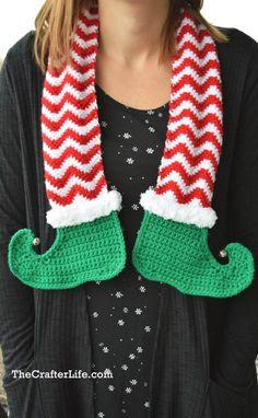 Ravelry: Jingle Bells Elf Scarf pattern by Chelsea Roberts Crochet Scarves, Crochet Yarn, Crochet Stitches, Free Crochet, Crochet Ideas, Crochet Granny, Free Knitting, Crochet Projects, Holiday Crochet