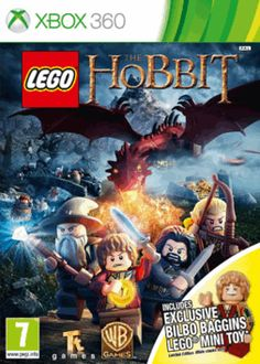 LEGO The Hobbit Videogame with Bilbo Baggins minifigure - Only at GAME Xbox 360 Cover Art
