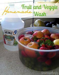 MIH Recipe Blog: Homemade Fruit and Veggie Wash