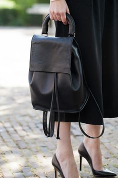 Premium Clean Leather Backpack TOPSHOP