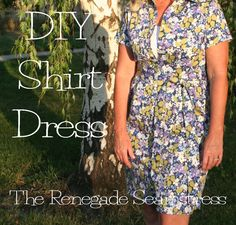 DIY Shirt Dress RefashionTutorial