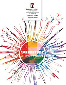 #SDSU College of Extended Studies 2014 Summer #Catalog