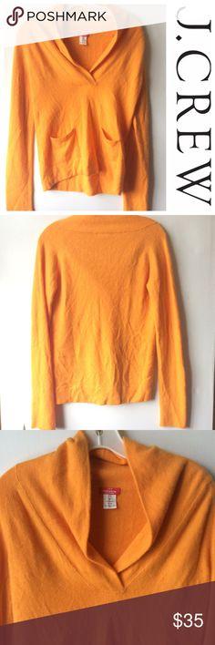 J CREW Cashmere preferita shawl collar SWEATER m Warm Cashmere sweater by J CREW . Orange in a size Medium. Some light wrinkle wear.. J. Crew Sweaters V-Necks