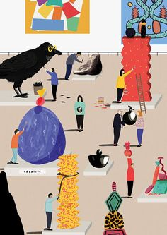 Check out illustrator Rose Blake's updated website - by jove she's done it again!