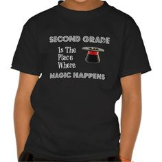 Kids' Hanes Tagless SecondGradeMagic (Xs-XL) T-shirts  Find this product and more at Pam's Piccadilly #pamspiccadilly #kidsclothes #secondgrader