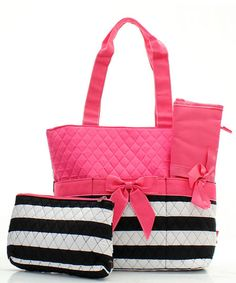 Personalized white andblack/pink striped by sewsassybootique, $29.95