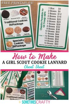 Free 2018 LBB Girl Scout Cookie Card Lanyard Printable - Sometimes Crafty