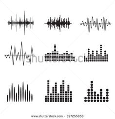 Stock Images similar to ID 436082908 - sound wave icon sound wave...