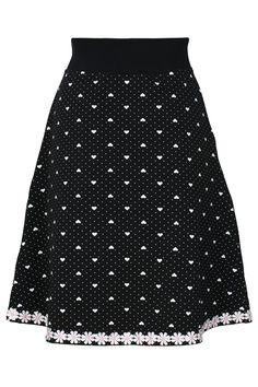 15b5584ef75b Ella Skirt Black Heart - Nederdele og bukser - Tøj – MANIA Copenhagen