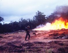 Flamethrower of the 35th Infantry Regiment ~ Vietnam War