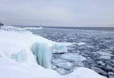 Icy Lake Superior.