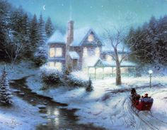 Another Gorgeous Masterpiece by Thomas Kinkade!