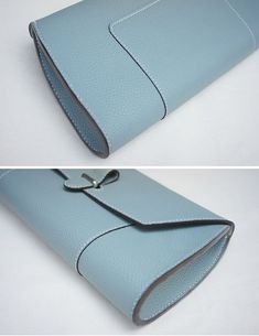 Handmade leather clutch - Brand : dex+annery - hand work - Material : Togo leather ( tannery : Germany Perlinger co.) - Serafil : (made in Germany) - Color : Color table (photo :Taupe color) - Process time : business days Best Leather Wallet, Leather Clutch, Calf Leather, Clutch Bag, Leather Handbags, Leather Purses, Soft Leather, Women's Handbags, Envelope Clutch