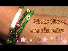 Pulsera de Hilo: Nudos Planos con Florecitas Intermedio - YouTube