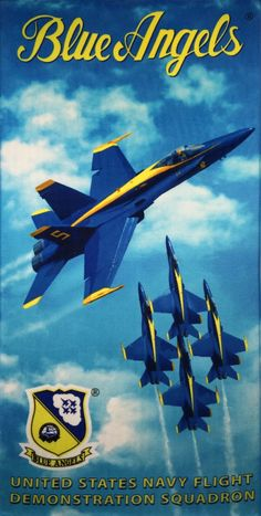 Officially Licensed US Navy Blue Angel Beach Towels (Sponsored) – AirshowStuff
