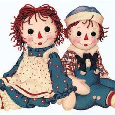 Raggedy Ann and Andy. My mom made Raggedy Ann and Andy for me when ...