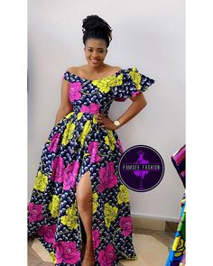 2019 African Fashion: Latest Ankara Gown Styles by Zahra Delong Diyanu African Fashion Ankara, Latest African Fashion Dresses, African Print Fashion, African Dresses For Women, African Print Dresses, African Attire, Ankara Dress Styles, Ankara Gowns, Nigerian Ankara Styles