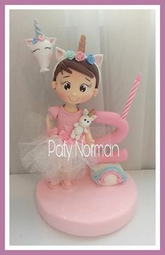 Ideas Para Fiestas, Clay Figures, Pasta Flexible, Foam Crafts, Polymers, Cold Porcelain, Unicorn Party, Cake Toppers, Biscuit