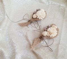 Cream rustic wedding Rustic CORSAGE mother of by MKedraWedding