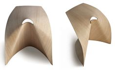 Un perçage bien placé et Shin Azumile fait plier le contreplaqué en un tabouret : AP pour Lapalma (via designboom) | inoow design lab | Scoop.it