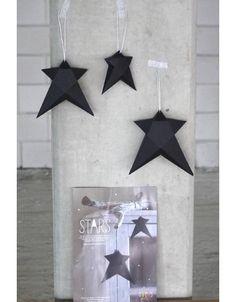 a little lovely company DIY paper stars zwart