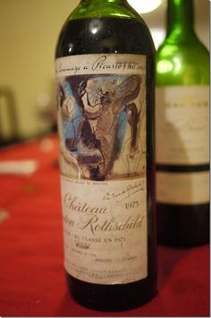 1973 Chateau Mouton Rothschild-birth year...great label (Picasso)... Wine not the best vintage...oh well