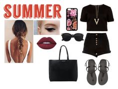 """""""#TheCutestSummerSandals"""" by moniybrooks on Polyvore featuring Ted Baker, River Island, Havaianas, Lime Crime, Chicnova Fashion and MANGO"""