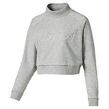 Korte damessweater met hoge halslijn