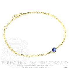 0.45ct Blue Sapphire Bracelet Image