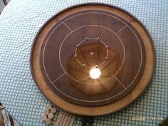"Dad's new crokinole board    ""Burton"" by Hiliniski"