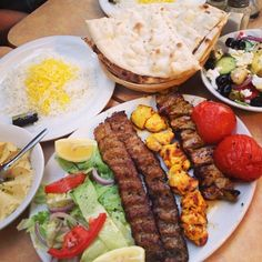 Barely any room in my belly but I just had to have some of the local Persian food. Bread is cooked in a traditional oven, baked to order. #yum #persianfood #chiswick #foodie #foodstagram #foodspotting #fullystuffed #instafood #igerslondon #londonfood #yummy