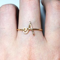 Personalized Non-Adjustable Sterling Silver Gold Filled Initial ring letter ring/knuckle mid ring/name/bridesmaid jewelry/wedding gift ideas - ♥♥♥♥♥ Perfect Personalized Gift For Your Loved Ones! Cute Rings, Unique Rings, Gold Rings Jewelry, Fine Jewelry, Jewellery, Craft Jewelry, Diamond Jewelry, Fashion Rings, Fashion Jewelry