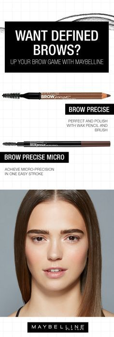 Overplucked? Don't worry. Everyone's done it. Up your brow game with this eyebrow guide for defined brows. Get those brows back into shape with a little help from Maybelline. Try our new Brow Precise Micro Pencil to perfect and polish with wax pencil and brush or our Brow Precise Shaping Pencil to achieve micro-precision in one easy stroke build the perfect brow.
