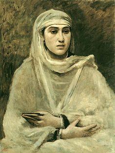 """L'Agerienne"" - Jean Baptiste Camille Corot 1865-1870"