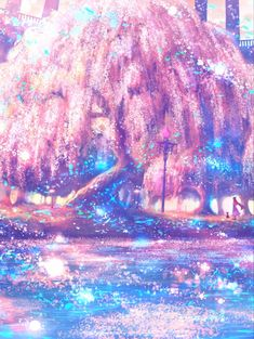Fantasy Art Landscapes, Fantasy Landscape, Beautiful Landscapes, Cute Kawaii Drawings, Cute Animal Drawings, Colorful Pictures, Art Pictures, Underwater Background, Night Sky Photos
