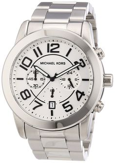 Michael Kors MK8290 Men's Chronograph Mercer Stainless Steel Bracelet Watch ** Continue to the product at the image link.