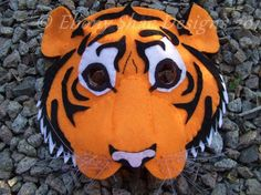 jungle book masks | Tiger mask pattern, one size fits most by ... | Sewing Ideas