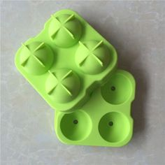 1PC BD 4 Slots Ice hockey Die Silicone Mold Child Kids Toy Mould Color random
