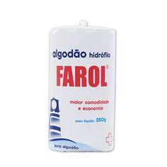 Algodão Hidrófilo Rolo 250g FAROL (Embalagem Econômica