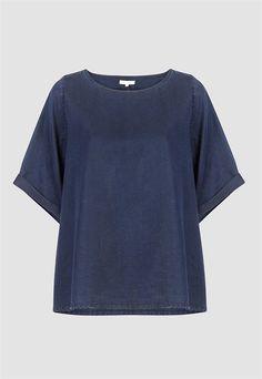 Bilqis  Blue Black  - Gebreide Top  Dames > Dames Shirts & Tops | Kings of Indigo Officiële Online Shop
