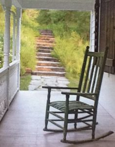 Porch rocking chair    Peaceful   