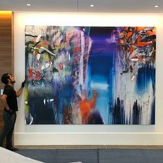 Chris Truemanlarge painting commission installed in the floor lobby of the new 181 Fremont tower in San Francisco. Ceramic Wall Art, Unique Wall Art, Modern Wallpaper, Large Painting, Local Artists, Contemporary Paintings, San Francisco, Canvas Paintings, Sculpture
